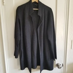 Eileen Fisher Merino Wool Cocoon Jacket Sweater